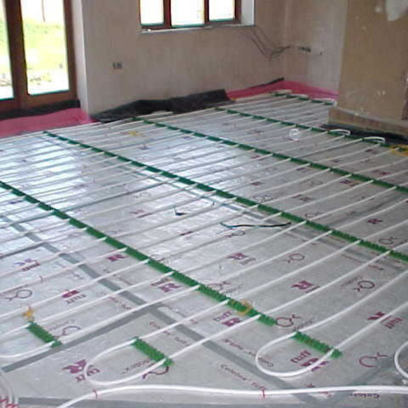 Radiant Ceiling Heating Installation